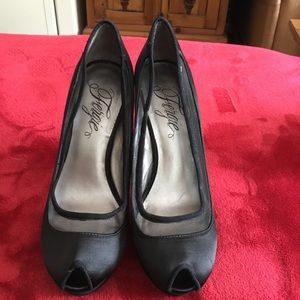 Fergie peep toe heels.